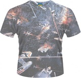 Star Wars Huge Space Battle Men's T-Shirt (Large)