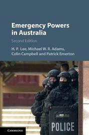 Emergency Powers in Australia by Colin Campbell image