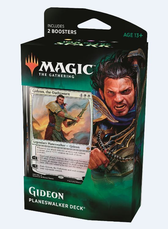 Magic The Gathering: War of the Spark Gideon Planeswalker Deck image
