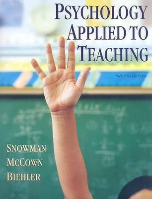 Psychology Applied to Teaching by Jack Snowman image