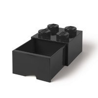 LEGO Storage Brick Drawer 4 (Black)