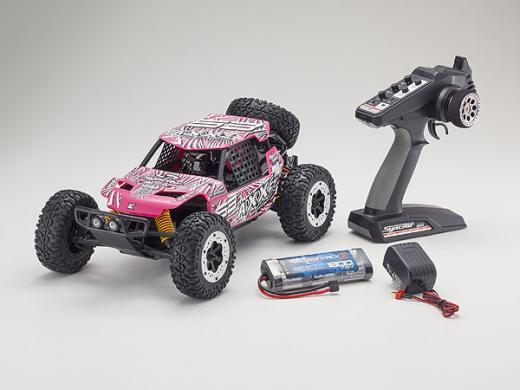 Kyosho 1/10 Axxe Readyset Electric Powered Type 6 - (Pink)