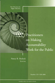 Practitioners on Making Accountability Work for the Public