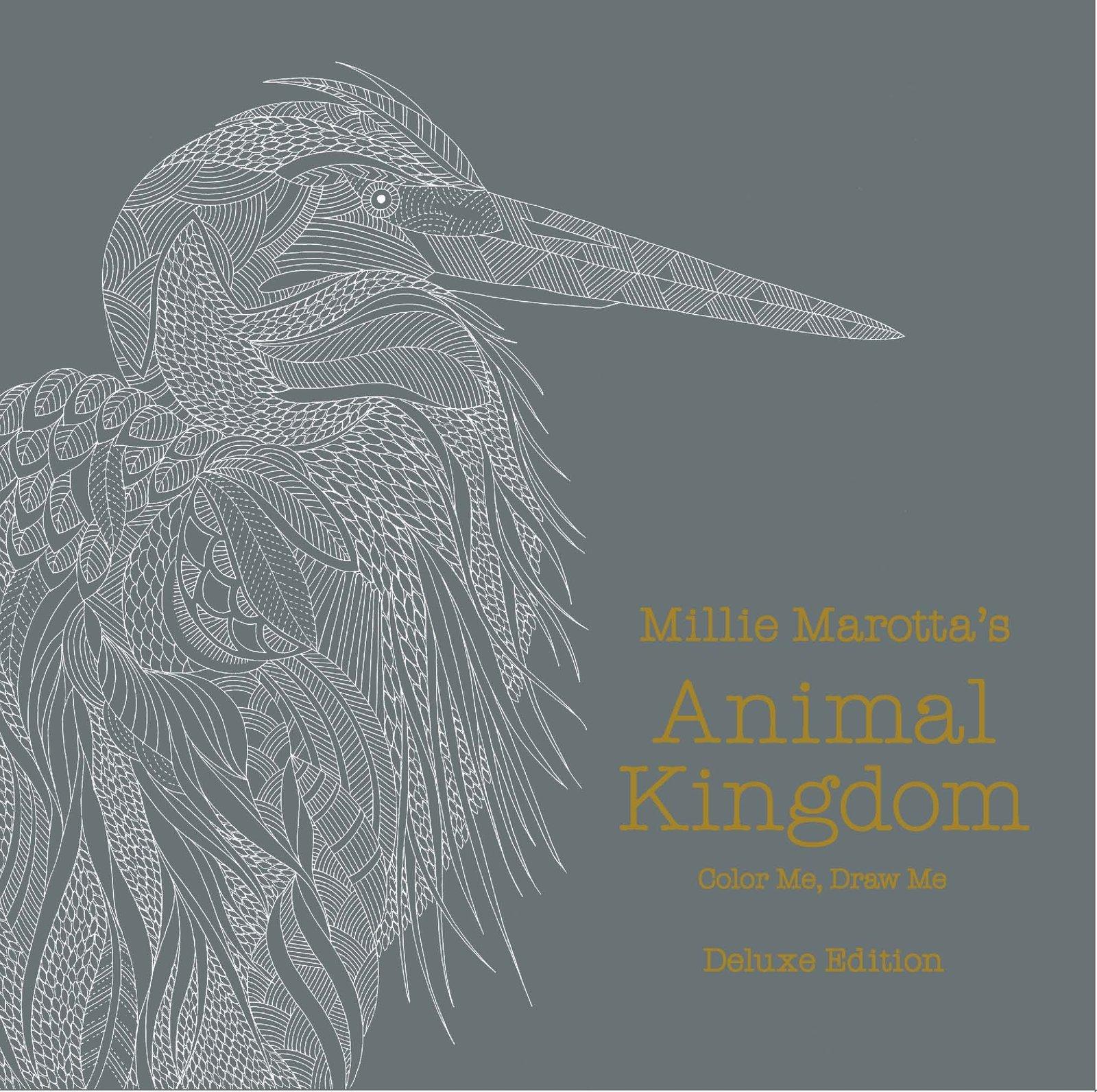 Animal kingdom coloring book deluxe edition : Millie marotta s animal kingdom linen bound deluxe edition