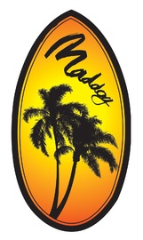 "Maddog: MSB130 - 37"" Skimboard Wedge (Palm Trees)"