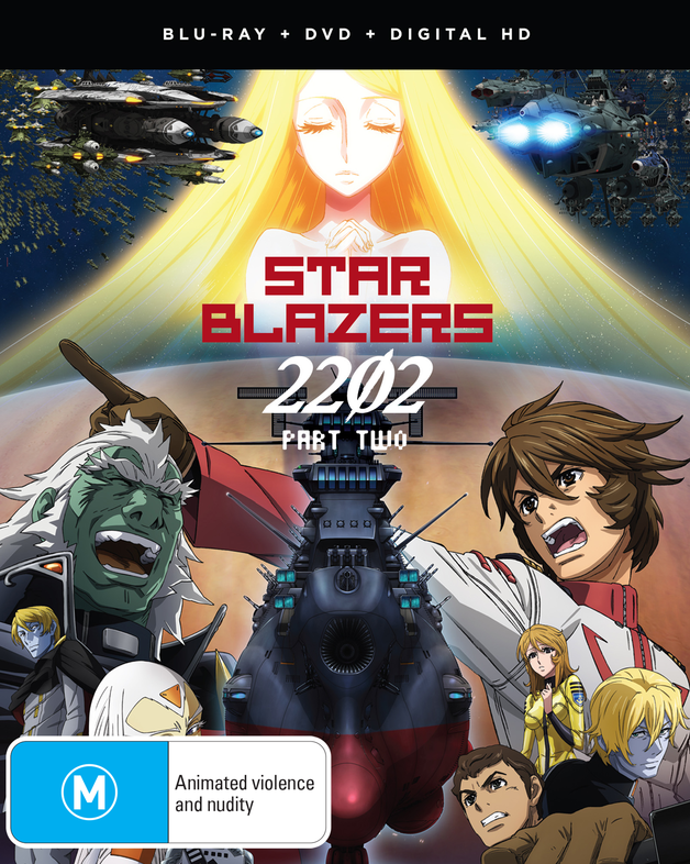 Star Blazers: Space Battleship Yamato 2202 - Part 2 (Eps 14-26) DVD / Blu-ray Combo on Blu-ray
