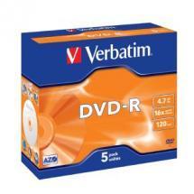 Verbatim DVD-R 4.7GB 5Pk Jewel Case 16x image