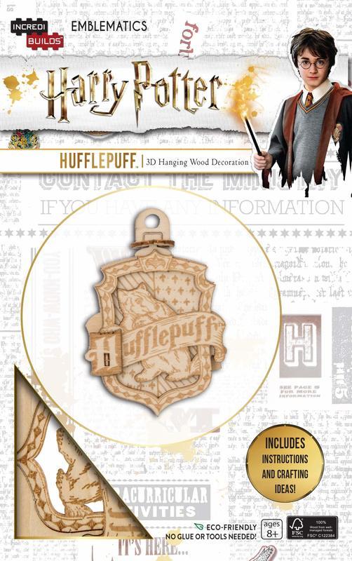 Incredibuilds: Harry Potter: Hufflepuff Emblematics 3D Hanging Decorations