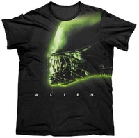 Alien Silhouette - Men's T-Shirt (XL)