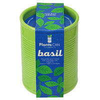 Plants Can: Green Ceramic Can - Basil