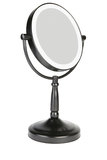 Homedics LED illuminated Vanity Mirror - Matte Black