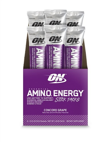 Optimum Nutrition: Amino Energy Drink Stick Pack - Concord Grape (6x9g)