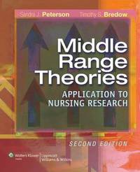 Middle-range Theories: Application to Nursing Research by Sandra J. Peterson image