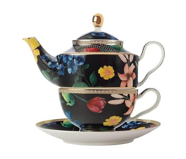 Maxwell & Williams Teas & C's Contessa Tea For One with Infuser 380ML Black