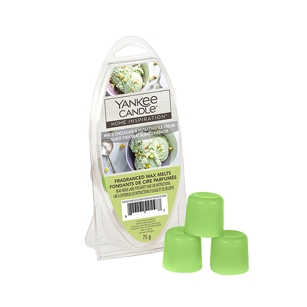 Yankee Candle: Home Inspiration Wax Melts - White Chocolate & Pistachio Ice Cream