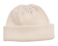 Babu Merino Knitted Rib Hat - Cream (3-6 Months)