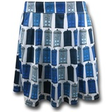 Doctor Who Tardis Women's Print Skirt (Small)