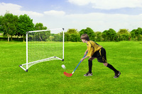 Mini Hockey Goal Set with Plastic Pole & Net + 2 Stick + 1 Ball