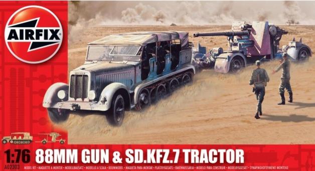 Airfix 88mm Gun & Tractor
