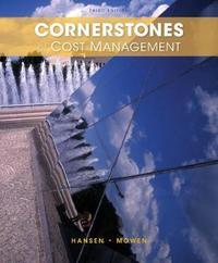 Cornerstones of Cost Management by Don Hansen