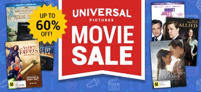 Universal Pictures Movie Specials - Up to 60% off!