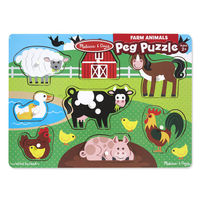 Melissa & Doug: Farm Peg Puzzle 8 Pieces