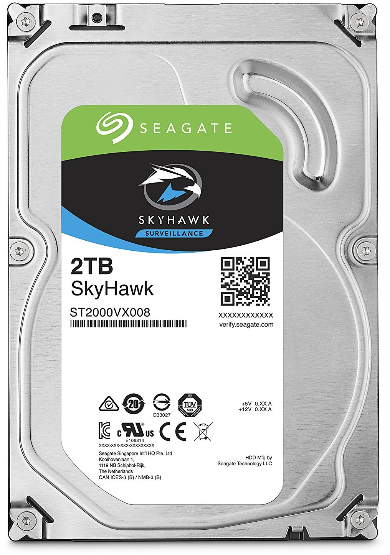 "2TB Seagate SkyHawk Surveillance 3.5"" SATA HDD image"