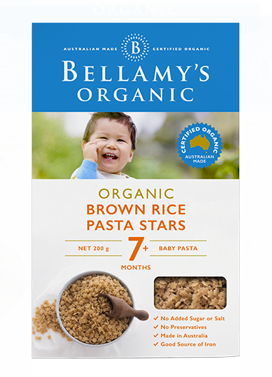 Bellamy's Organic: Brown Rice Pasta Stars (200gm)