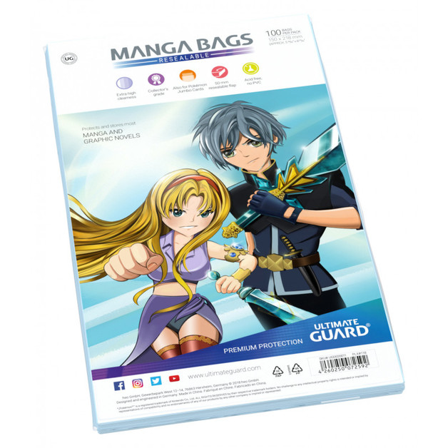 Ultimate Guard: Manga Bags - Standard (100-Pack)