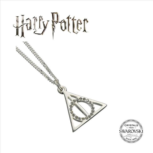 The Carat Shop: Harry Potter Embellished with Swarovski® Crystals Deathly Hallows Necklace