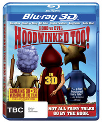 Hoodwinked Too! Hood vs. Evil (3D & 2D Blu-ray) on Blu-ray, 3D Blu-ray