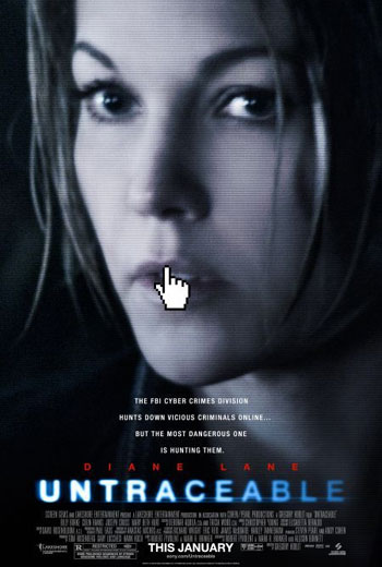Untraceable on DVD image