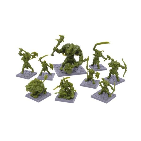 Dungeon Saga: Green Rage Miniature Set