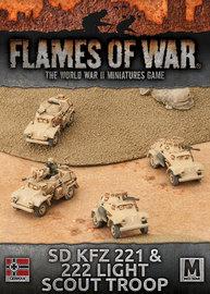 Flames of War: Afrika Korps - Sd Kfz 221 & 222 Light Scout Troop