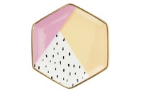 Pinky Up: Ceramic Tea Tray - (Color Blocked) image