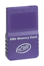 Tru Blu 8MB Memory Card (Purple) for GameCube