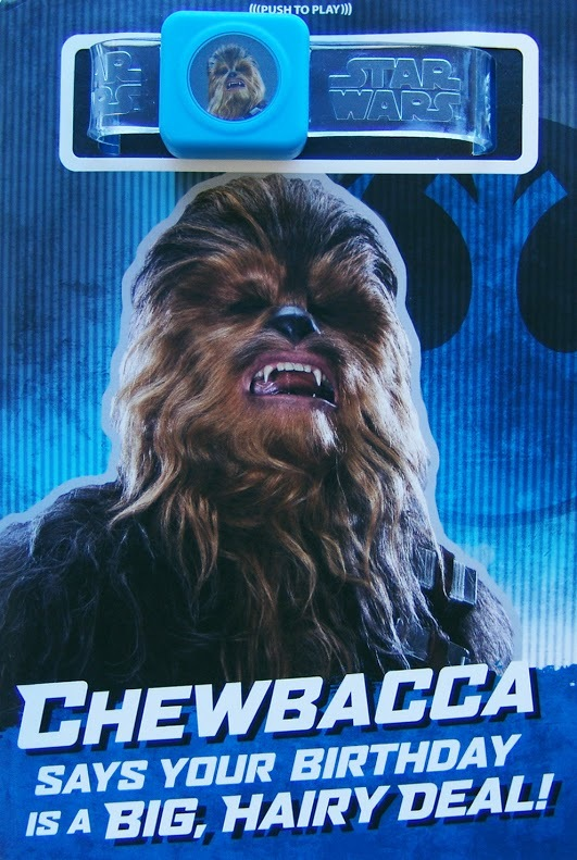 Buy Star Wars Interactive Sound Birthday Card Chewbacca At Mighty
