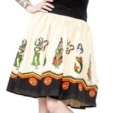 Sourpuss Sideshow Ladies Swing Skirt (Medium)