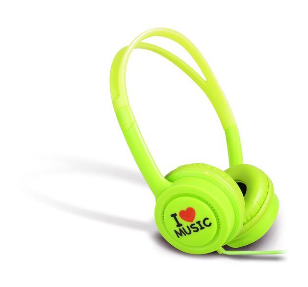 iDance Hedrox Junior Volume Limiting Kids Headphones - Green