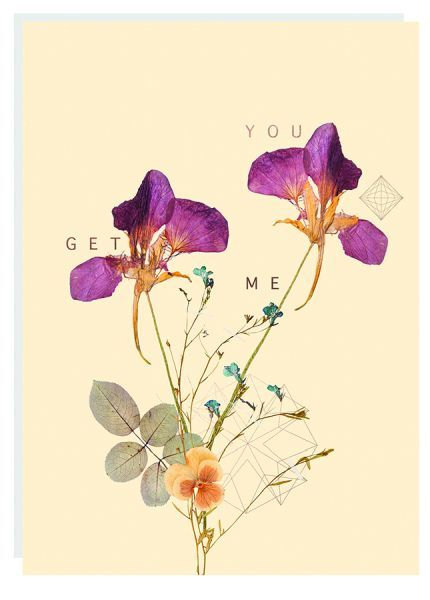 Fireweed: Twins Foil Friendship Greeting Card