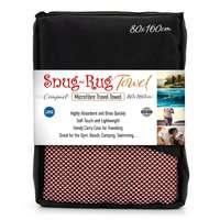 Snug Rug Microfibre Quick Dry Beach Towel - Salmon Pink (Large)