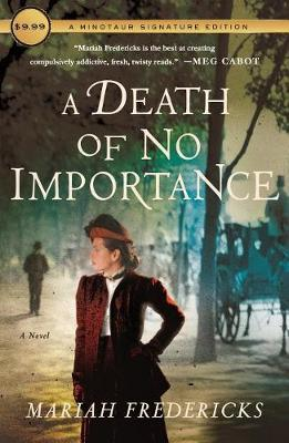 A Death of No Importance by Mariah Fredericks image