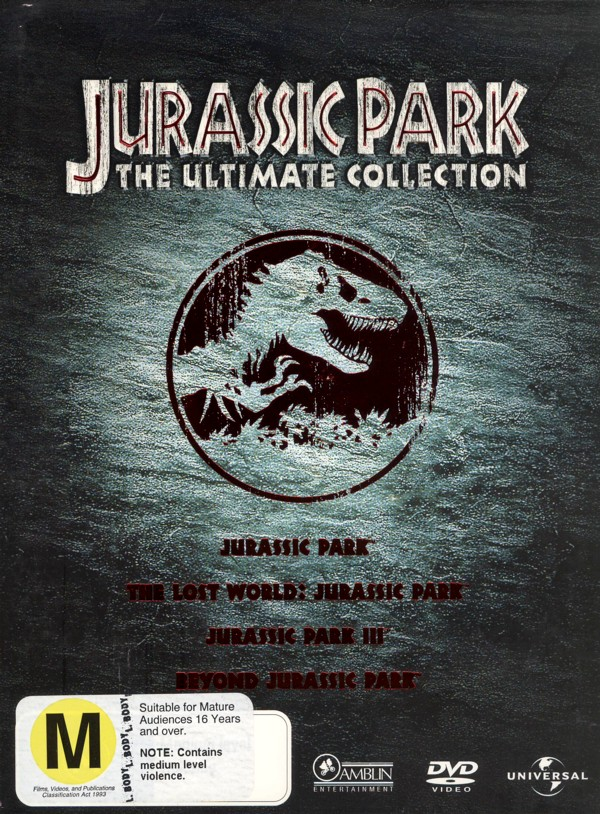 Jurassic Park - The Ultimate Collection (4 Disc Box Set) on DVD image