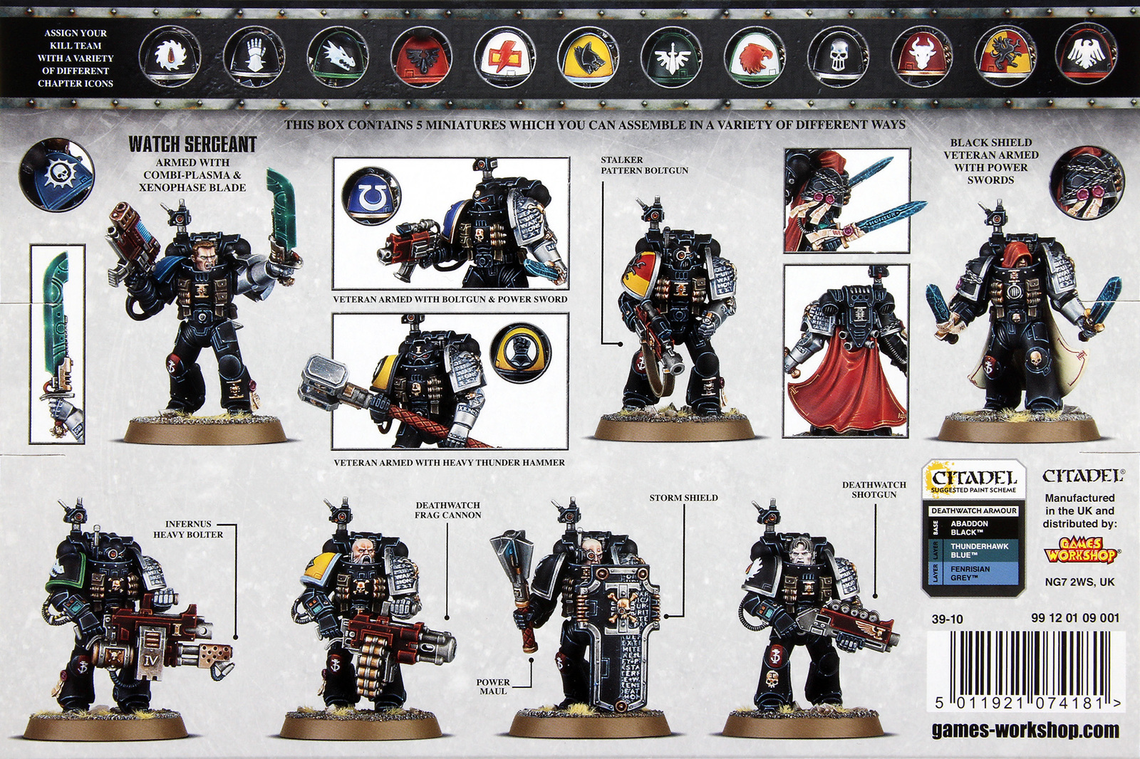 Painting Deathwatch Different Colours