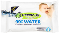 Precious Wet Water Wipes 5 pack