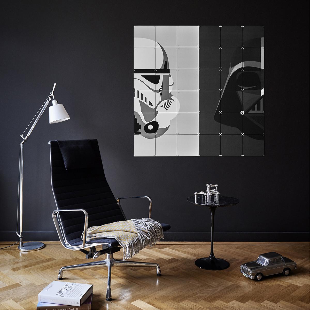 Ixxi: Star Wars Stormtrooper / Darth Vader Wall Art (120cm X 120cm) image