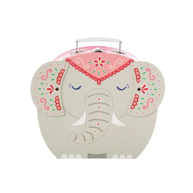 Mandala Elephant Pink Interior Suitcase