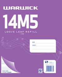 Warwick 14M5 30lf Loose Leaf Music Refill