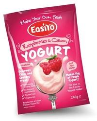 EasiYo Gourmet Range Raspberries & Cream