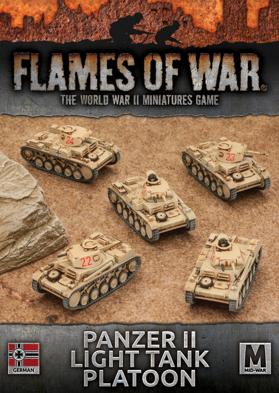 Flames of War: Afrika Korps - Panzer II Tank Platoon